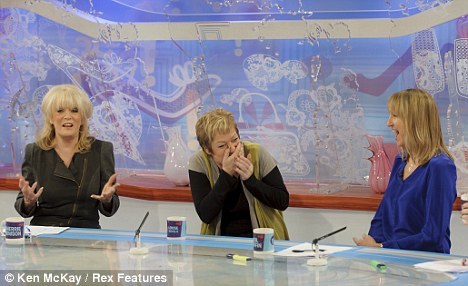 Revelations: The 53-year-old was back on the panel with Sherrie Hewson, Denise Welch and Carol McGiffin