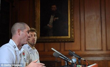 Dream team: Robshaw with interim England coach Stuart Lancaster