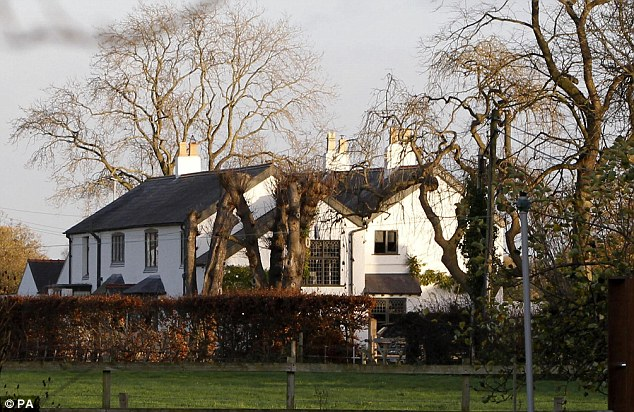 Row: Louise Speed left the family home, pictured, near Chester, and went for a drive after a row Hours later she discovered her husband hanged in the garage