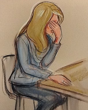 Drawing from the Gary Speed inquest; Louise Speed