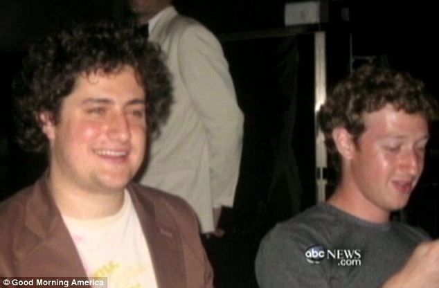 Mr Green (left) decided to stay in school and not become one of the founders of Facebook with Mr Zuckerberg (right)