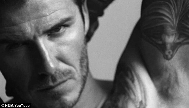'Embarrassed': David Beckham revealed he 'didn't know where to look' when his H&M ad came on during the Super Bowl