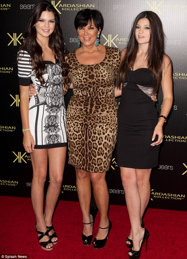 The next generation: Kendall and Kylie with their mother Kris Jenner