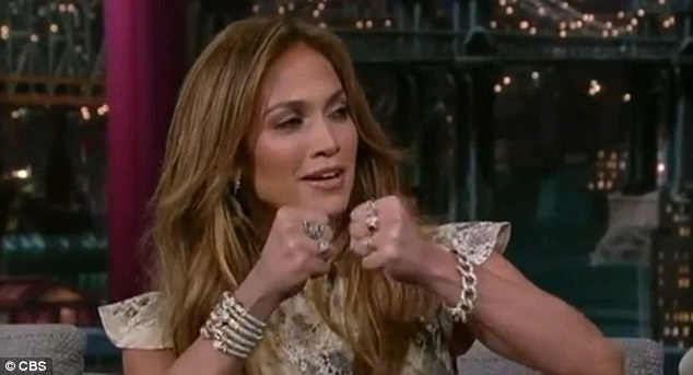 Communication issues: Jennifer Lopez admits she sometimes clashes with estranged husband Marc Anthony on their reality show during an interview on the Late Show With David Letterman