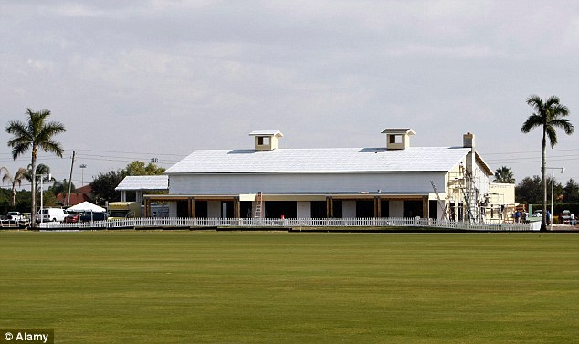 Lifestyles of the rich and famous: Goodman owns the International Polo Club Palm Beach in Wellington, Florida