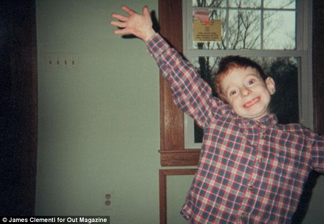 Playful: Tyler at home as a child. His parents have set up a foundation in their late 18-year-old son's honour