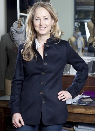 Eye for style: Katherine Hooker started the company after falling in love with an old Israeli coat