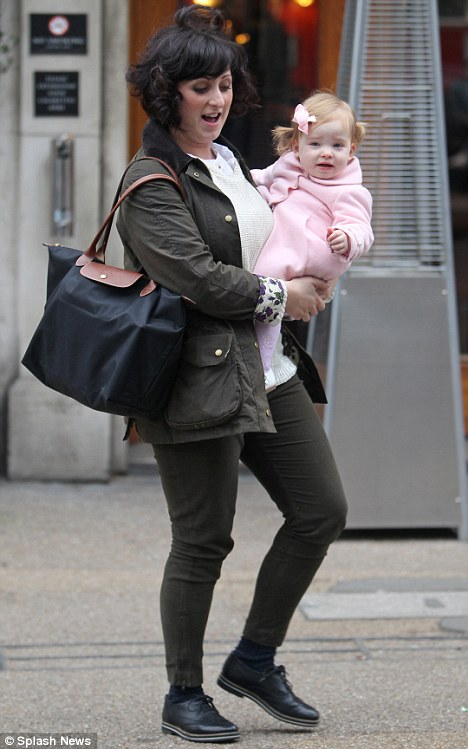 Family time: Natalie and her daughter Eliza out in London this week