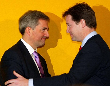 Support: Nick Clegg will be sorry to lose a capable Lib Dem ally in the Cabinet