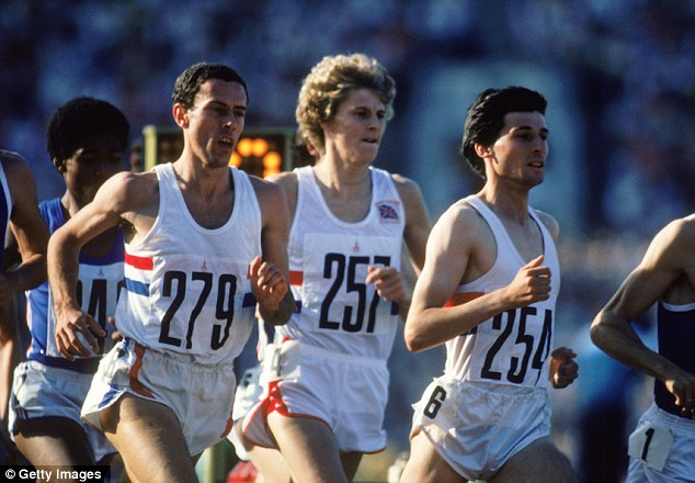 Three kings: Coe leads Cram and Ovett in the final of the 1500m at the 1980 Moscow Olympics