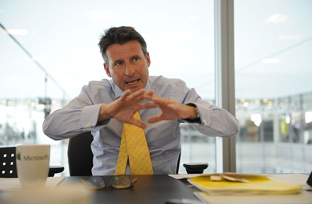 Driving force: Lord Coe is the heartbeat of London's Olympic Games
