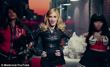 Groovy: Madonna released her new song Give Me All Your Luvin on Friday featuring M.I.A. and Nicki Minaj