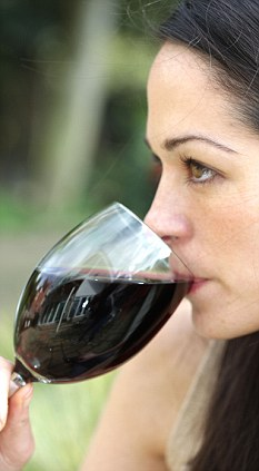 Warning: A new advertising campaign will warn that drinking two large glasses of wine a day triples the risk of mouth cancer