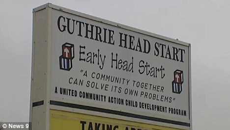 Teacher: The girl's mother has worked as a teacher in the Guthrie Head Start programme since 2007 where her two children are enrolled