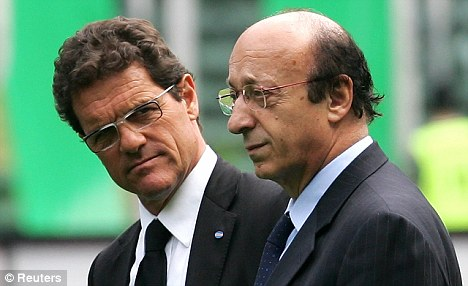 Strange choice of title: Capello said disgraced former Juventus director Luciano Moggi was 'the best around'