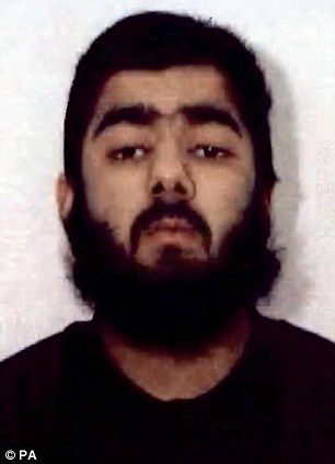 Bugged: Usman Khan was heard by MI5 discussing plans to recruit radicals to a terrorist training camp in Kashmir