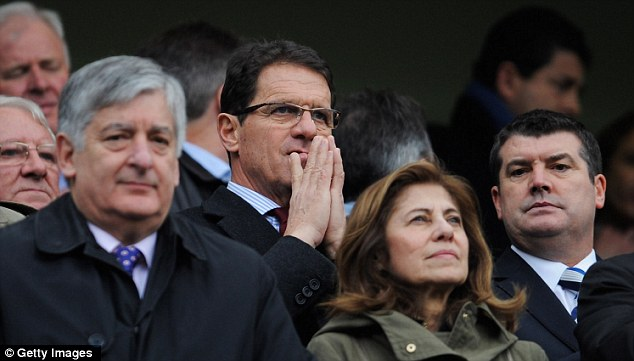 Meeting: David Bernstein (left) and Capello clashed at Wembley