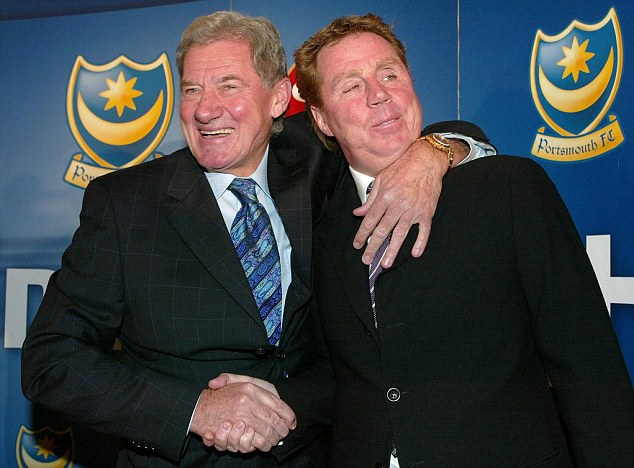 Old pals: Redknapp with his former chairman Mandaric during their days at Portsmouth