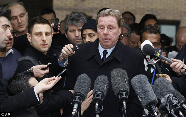 Outside court: Harry Redknapp addresses the media after being found not guilty of tax evasion