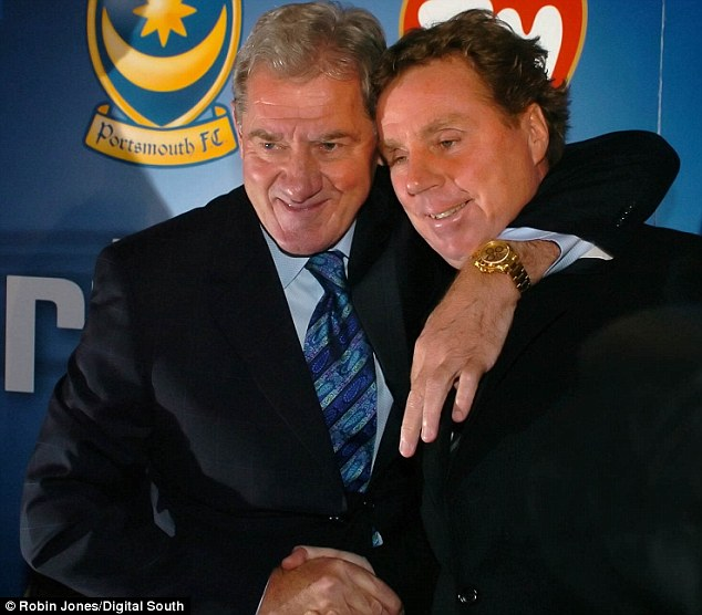 Old times: Mandaric gets to grips with Redknapp when the pair were chairman and manager of Portsmouth FC respectively
