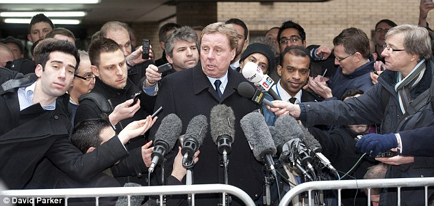 Innocent: Harry Redknapp is swamped by reporters outside Southwark Crown Court as he walks free. He told the media the case should never have come to court and described the five-year ordeal as a 'nightmare'
