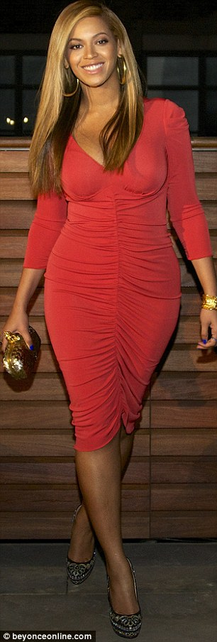 Bolder and bolder: The red dress was a hit so Beyonce tried a racier look tonight, and guess what? She pulled that off too