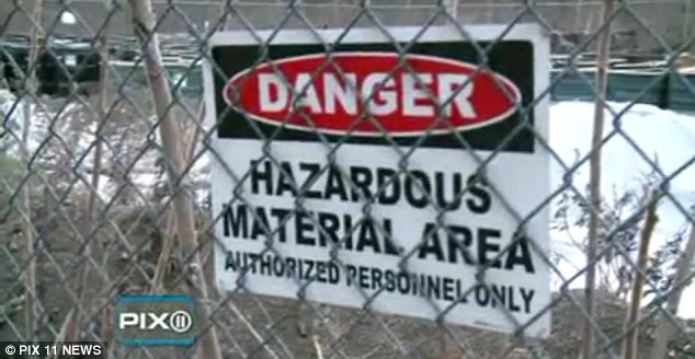 Superfund site: The site of the 1970 train crash has a danger sign warning the public not to enter
