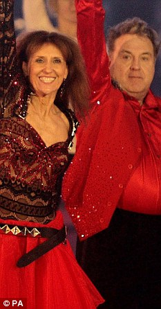Comeback: Russell with Anita Dobson on the set of Strictly Come Dancing