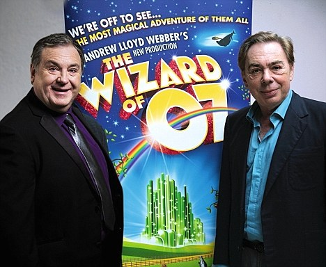 Russell Grant with Andrew Lloyd Webber