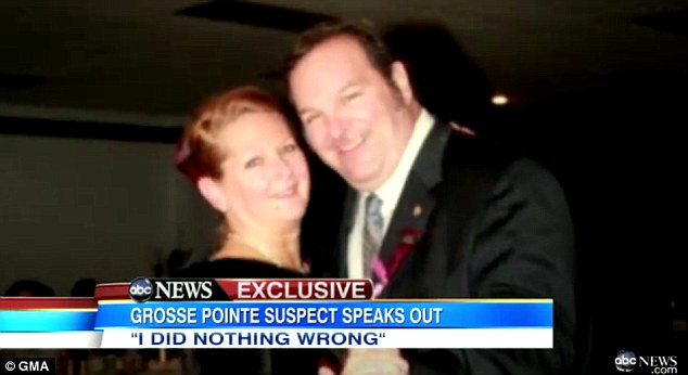 Open marriage?: Bashara has denied having an affair with Rachel Gilette, pictured, and refused to talk about it to GMA