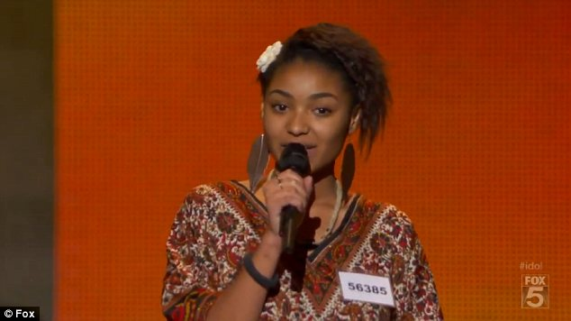 Classic: Symone sang Otis Redding's (Sittin' On) The Dock Of The Bay for her Hollywood Week audition