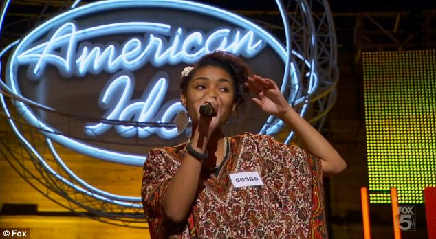 Frightening: American Idol contestant Symone Black collapsed during her audition