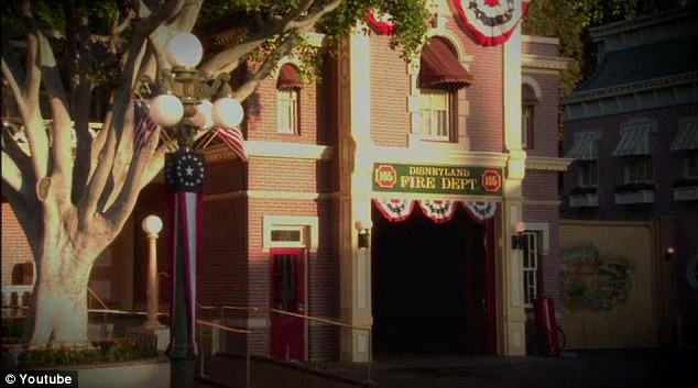 Tucked away: The Disneyland apartment sits on the second floor of the Main Street Firehouse