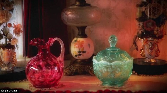 Collectables: Lillian Disney had a love for cranberry glass and lamps from the Victorian era