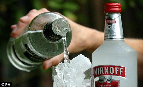 Top brand: Smirnoff vodka remains a favourite with British drinkers