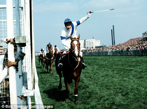 Unforgettable: Bob Champion rides the Gifford-trained Aldaniti to victory in the 1981 Grand National