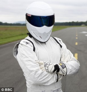 Double 0 Stig! Collins was outed as the man in the white suit on Top Gear