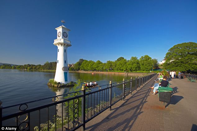 Urban beauty spot: Roath Park in Cardiff, where the gang first met