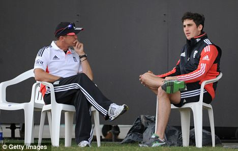 Team talk: Kieswetter and coach Andy Flower
