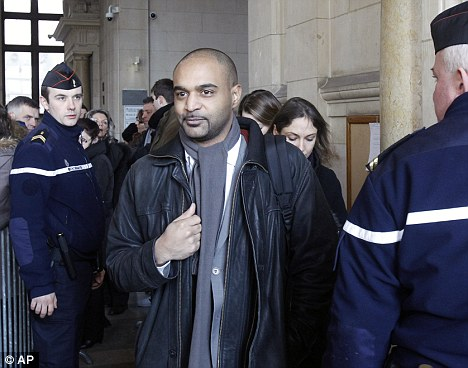 Anti-racism campaigner, Dominique Soppo arrived at court to hear the court action against Guerlain
