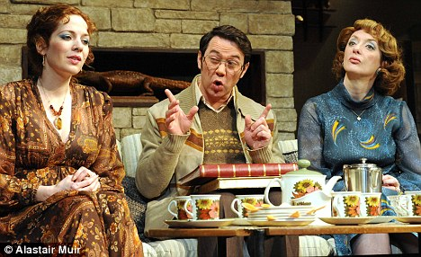 Absent Friends: Katherine Parkinson as Diana, Reece Shearsmith as Colin, and Elixabeth Berrington as Marge