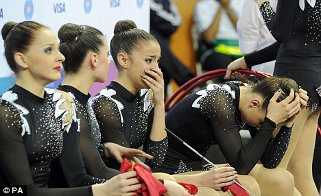 Tears: Great Britain's gymnasts failed to qualify for the London Olympics