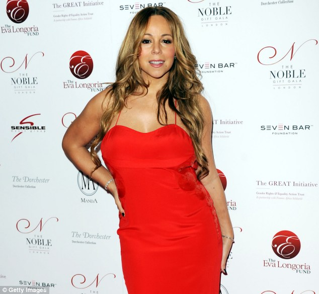 Making it happen: Mariah has dropped 30 pounds by using the Jenny Craig weight loss system