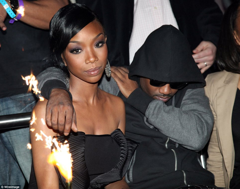 Support: After leaving the hotel where Whitney Houston died, Ray J headed to Ne-Yo's annual Midnight Brunch party where his sister Brandy was celebrating her 33rd birthday