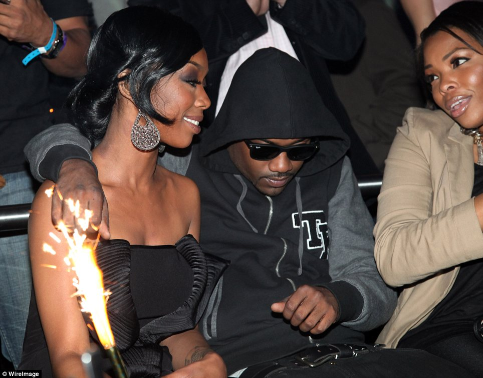 Comfort: Ray J receives reassurance from his sister Brandy after the tragic death of his on-off girlfriend Whitney Houston