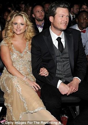 Date night: Celebrity couples Miranda Lambert and Blake Shelton, Julianne Hough and Ryan Seacrest and Alica Keys and husband Swizz Beatz enjoy the show