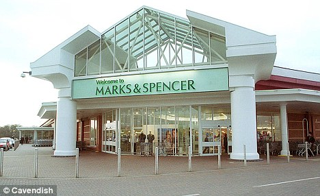 Confrontation: Tony Leung was accused of stalking and appearing to film Mrs Warnes at this M&S store in Handforth Dean, Cheshire