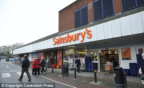 'Creep': Mrs Warnes also spotted restaurateur Tony Leung, 49, in this Sainsbury's store in Wilmslow