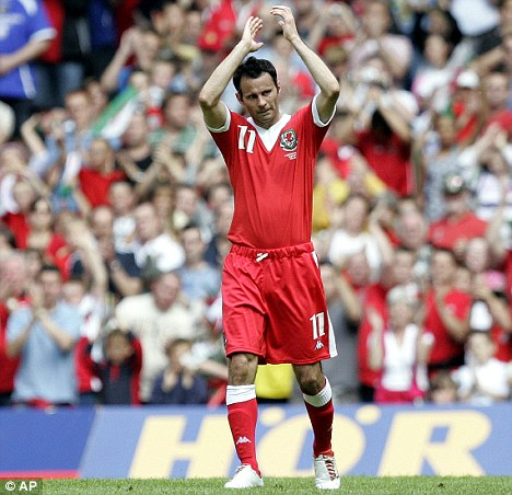National hero: Giggs won his 64th Wales cap against the Czech Republic in 2007
