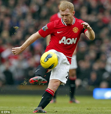 Couldn't stay away: Paul Scholes came out of retirement for Manchester United